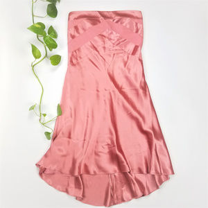 Banana Republic Pink Silk Strapless Gown Sz